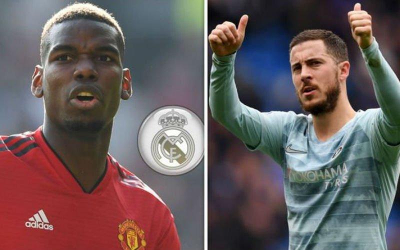 Transferbom: 'Eden Hazard én Paul Pogba trekken naar Real Madrid'