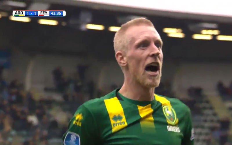ADO Den Haag maakt wereldgoal, reactie ex-speler Club Lex Immers maakt het af (video)