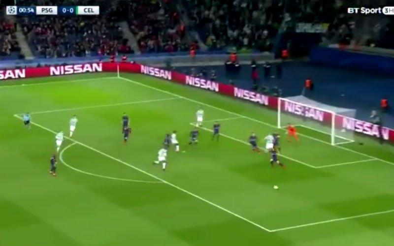 Onvoorstelbaar! Dembélé knalt Celtic binnen de minuut op voorsprong tegen PSG (video)