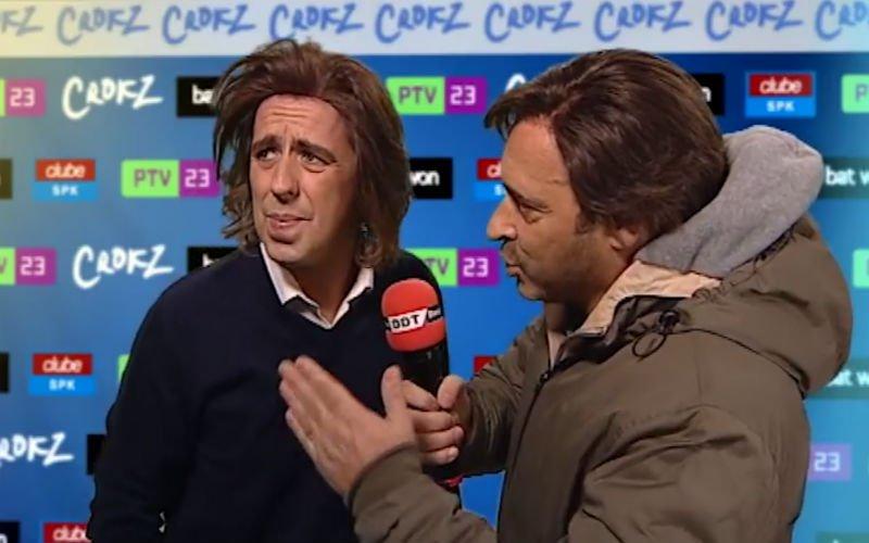 Portugese televisie steekt de draak met Sa Pinto en zijn fopduik (video)