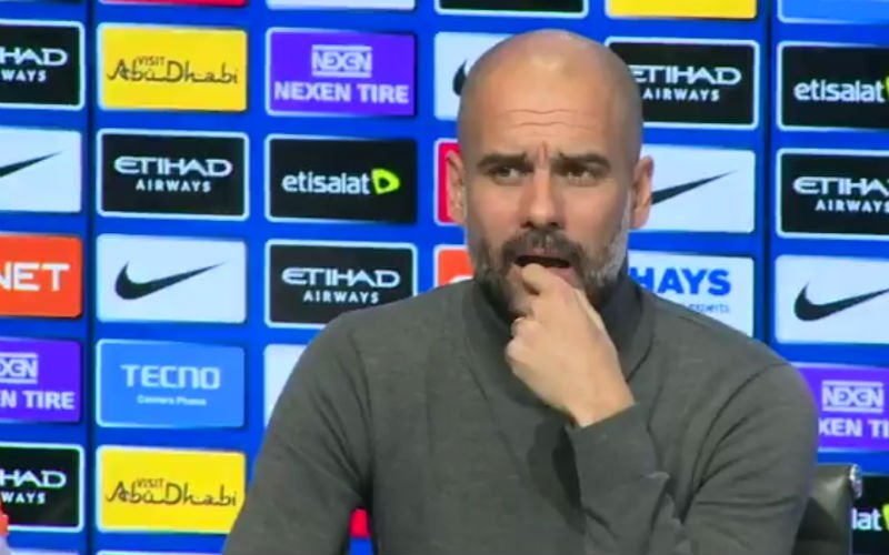 Guardiola met mond vol tanden na deze vraag over Sanchez (video)