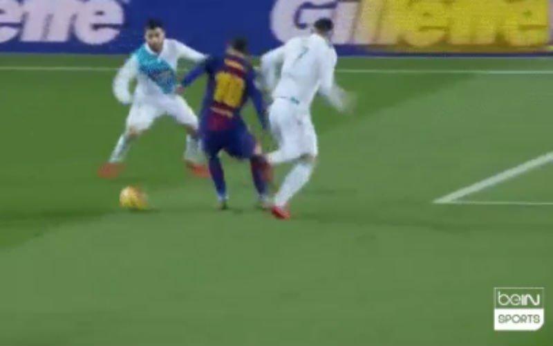 Koekoek! Messi en Alba spelen tegenstander compleet gek (video)