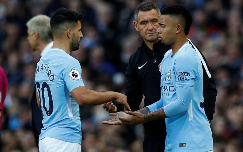 Guardiola vertelt opmerkelijk verhaal over waarom Aguëro en Jesus niet kunnen samenspelen