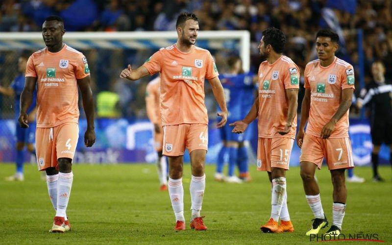 Anderlecht-fans zijn kleuren van shirts kotsbeu