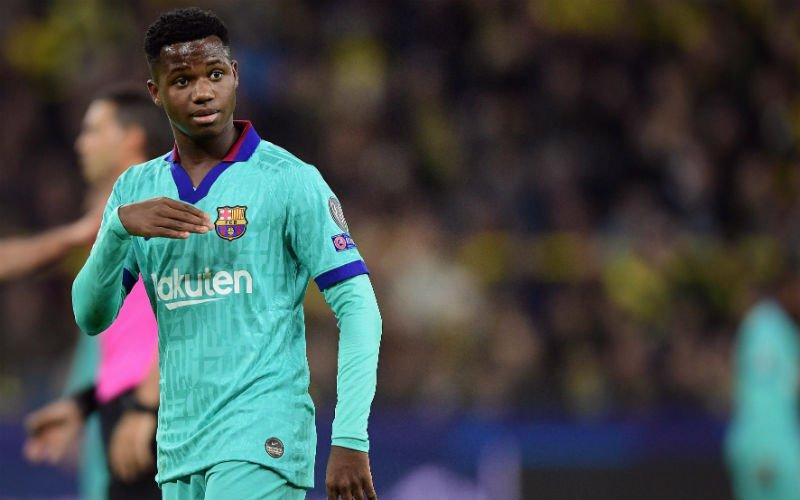 'Wonderkind Ansu Fati (16) kan Barcelona verlaten voor 100 miljoen'