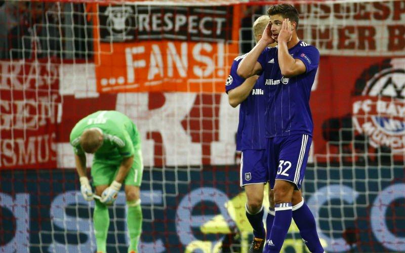 Tien man van Anderlecht houden lang stand tegen Bayern, maar gaan toch kopje onder