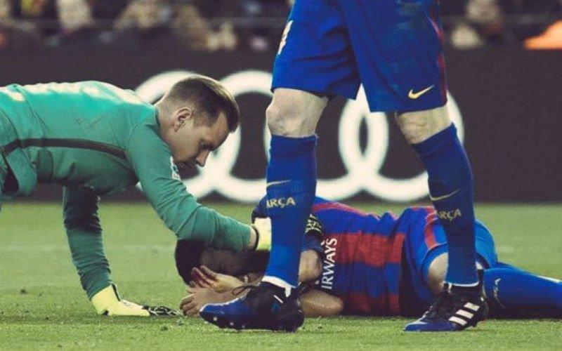 Ster van Barcelona loopt vreselijke hoofdblessure op