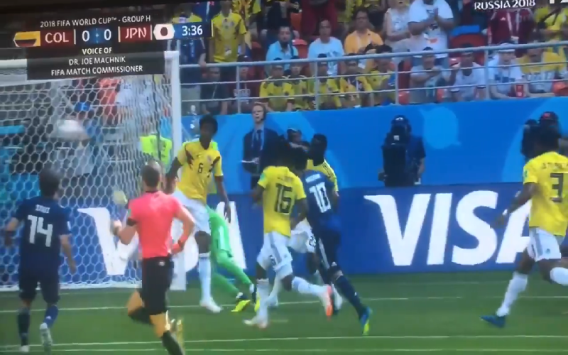 Colombia-Japan ontploft al meteen met waanzinnige openingsfase (Video)