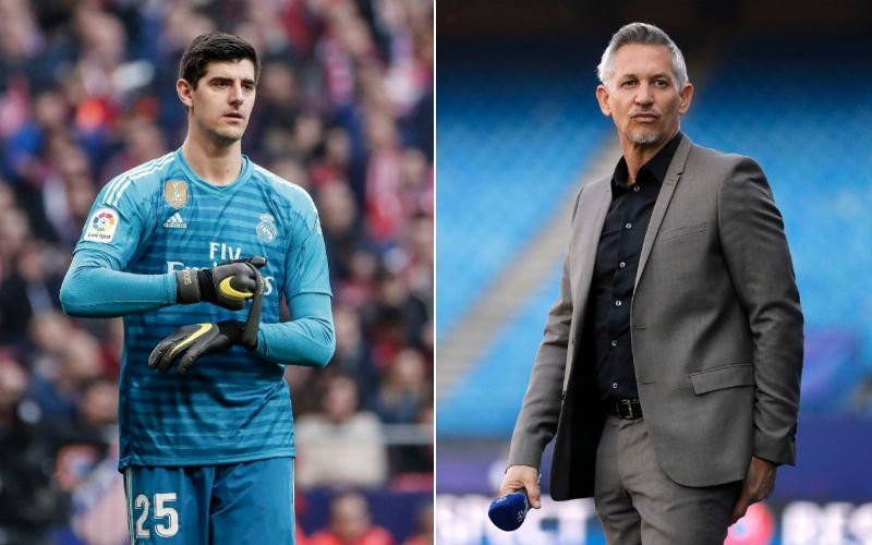 Gary Lineker lacht Thibaut Courtois vierkant uit na afgang Real Madrid