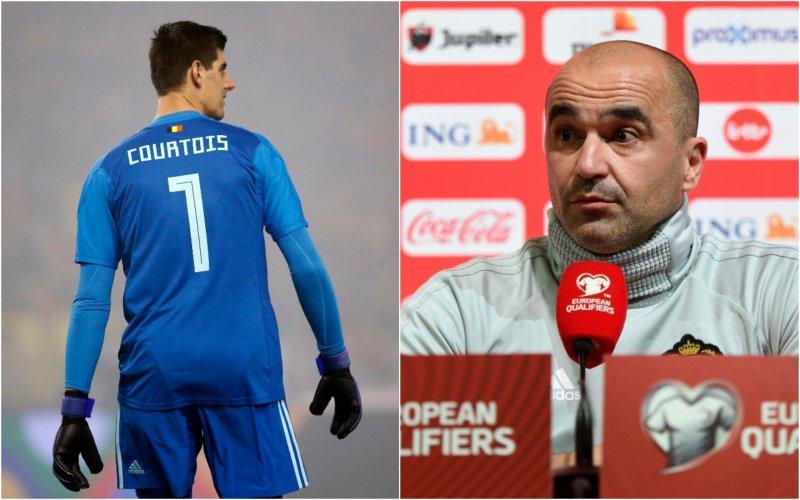 Zó reageert Martinez op vraag over Courtois' situatie bij Real Madrid