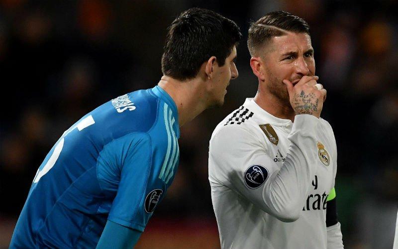 Sergio Ramos zet Thibaut Courtois voor volledige Real-kleedkamer voor schut