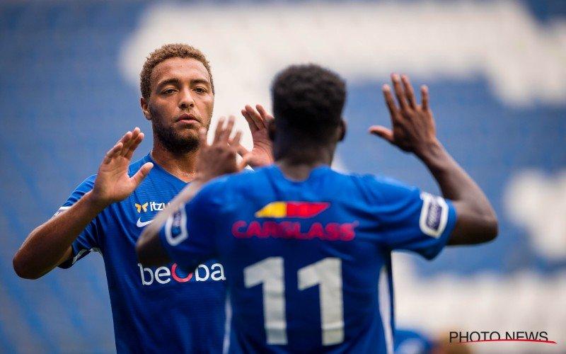 Cyriel Dessers maakt eerste goal voor KRC Genk in ruime zege