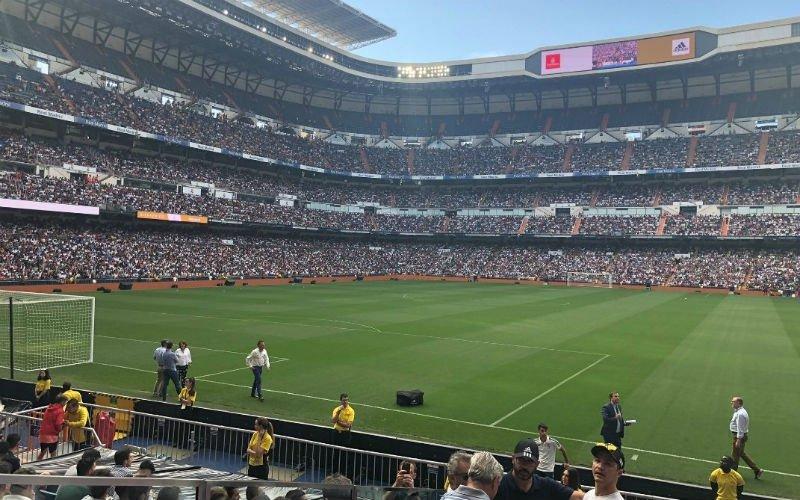 Kippenvel: Volkstoeloop in Bernabéu voor komst van Hazard (VIDEO)