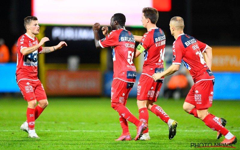 KV Kortrijk wint ruim van 9 Moeskroen-spelers en springt naar derde plaats