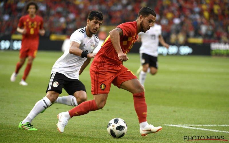 De Vlieger wil iets kwijt over Eden Hazard na eerste helft tegen Egypte