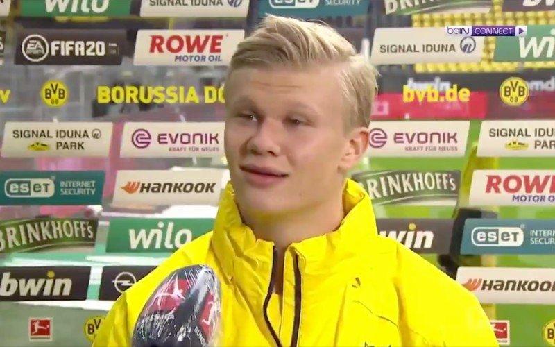 Niemand gelooft wat Erling Haaland hier tijdens TV-interview doet (VIDEO)