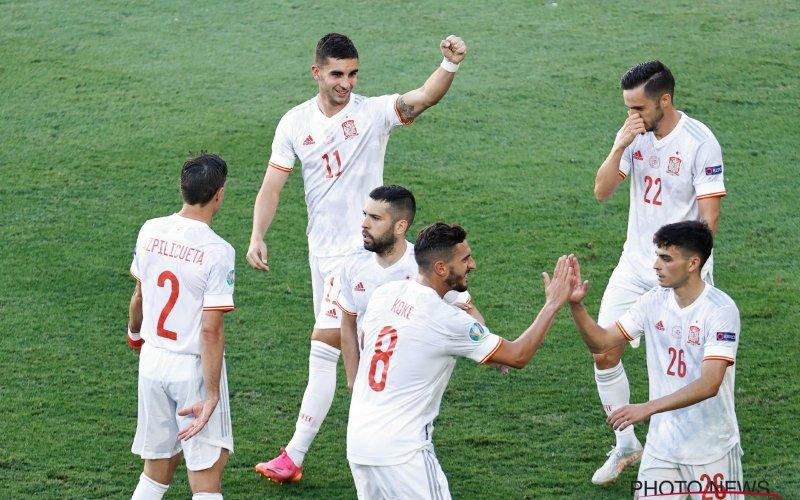 Met héél veel moeite: Spanje na strafschop-thriller voorbij Zwitserland
