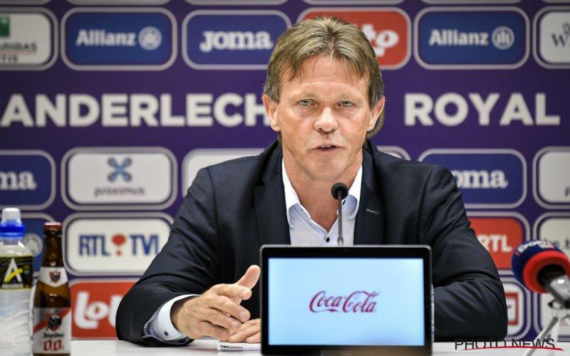 Vercauteren neemt drastisch besluit bij Anderlecht: