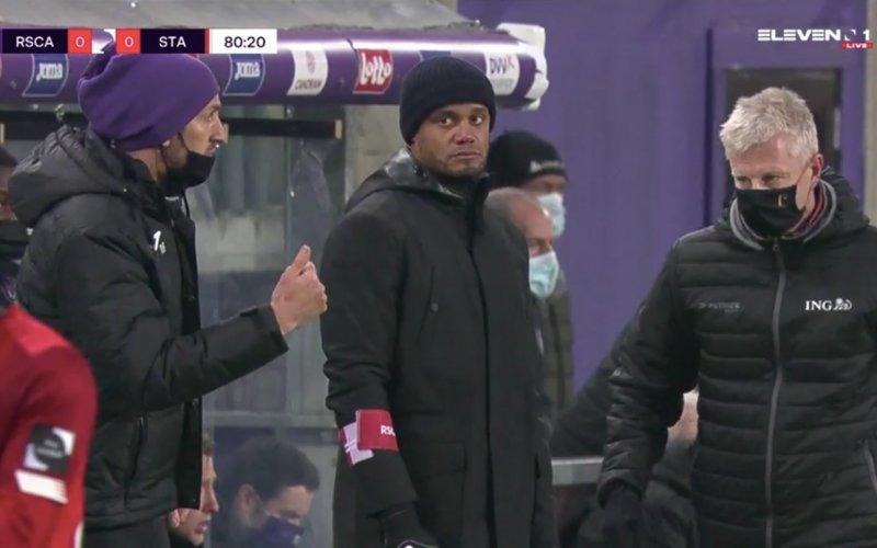 Vincent Kompany zorgt voor opmerkelijk moment tijdens Anderlecht-Standard