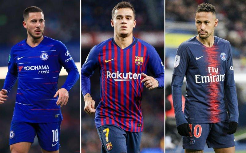 'Barcelona zet spraakmakende deal met Hazard, Neymar en Coutinho op poten'