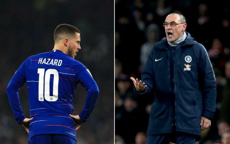 Pijnlijk: Sarri haalt na vertrek bij Chelsea uit naar Hazard