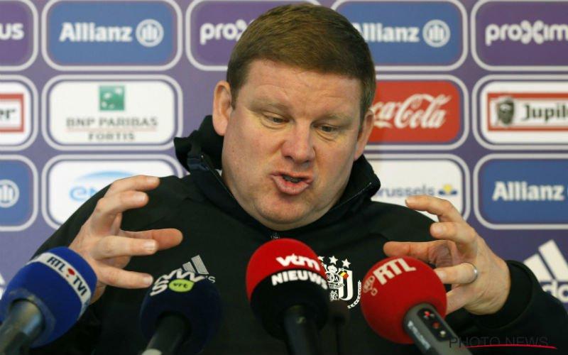 Vanhaezebrouck niet te spreken over Anderlecht: