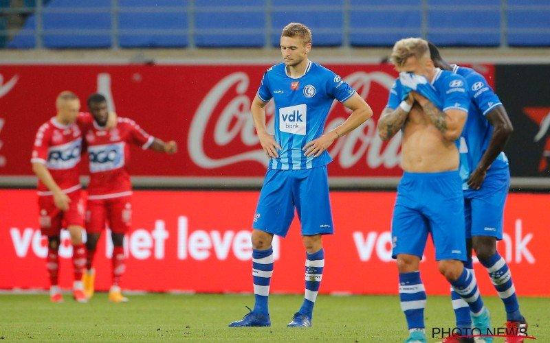 Zwak AA Gent gaat onderuit tegen KV Kortrijk, Charleroi springt naar de leiding