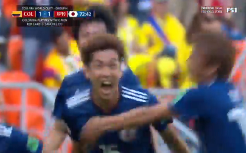 Japan schokt Colombia na knappe goal (Video)