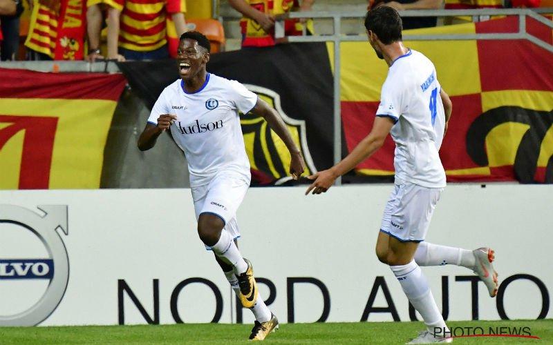 Jonathan David doet het alweer voor Gent en scoort belangrijk doelpunt