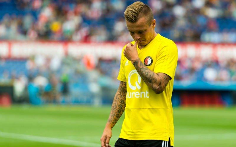 Jordy Clasie gaat al meteen af als een gieter bij Feyenoord