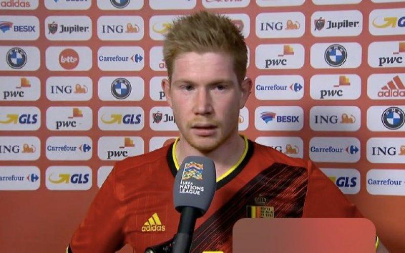 Kevin De Bruyne absoluut niet te spreken na zege tegen Denemarken
