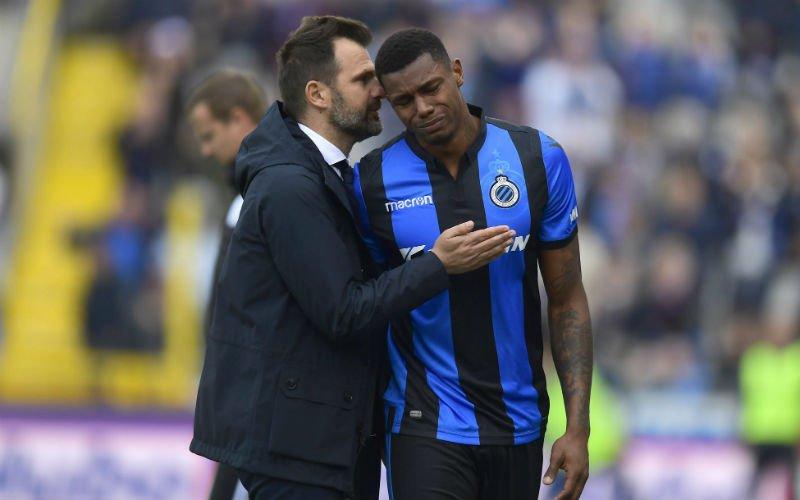 Wesley barst in tranen uit tijdens Club Brugge-Antwerp