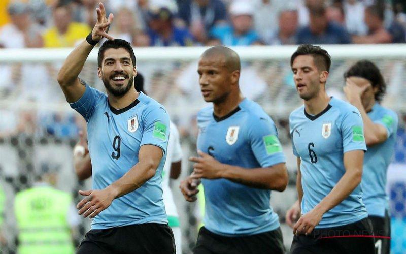 Zwak Uruguay heeft genoeg aan één doelpuntje van Suarez