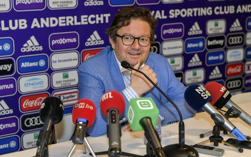 Coucke komt met belangrijk nieuws voor de fans van Anderlecht