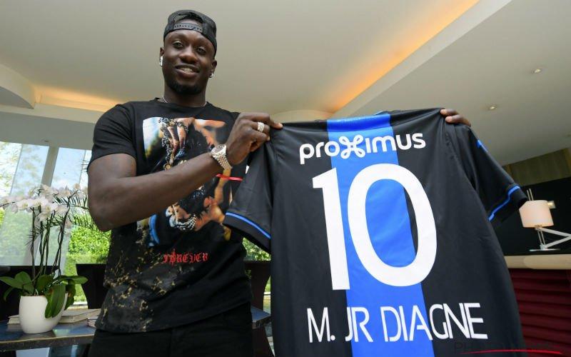 'Club Brugge schrikt zich rot van Mbaye Diagne'