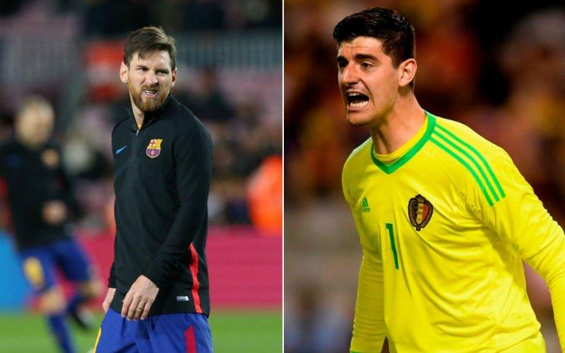 'Lionel Messi is wel héél blij met de transfer van Courtois'