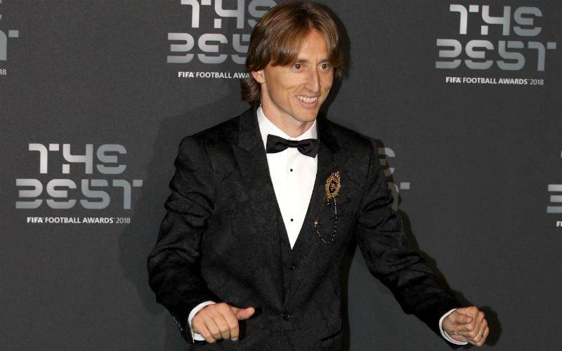 Modric verslaat Ronaldo opnieuw en is 'Beste Speler ter Wereld'