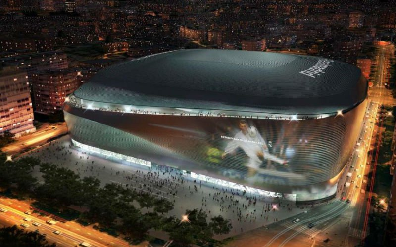 Real Madrid speelt straks in dit prachtige nieuwe stadion (Foto's)
