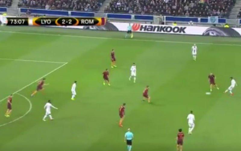 Lyon-speler Fekir doet dit tegen AS Roma (Video)