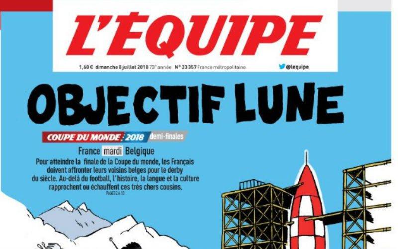 L'Equipe pakt in aanloop naar Frankrijk-België uit met deze voorpagina