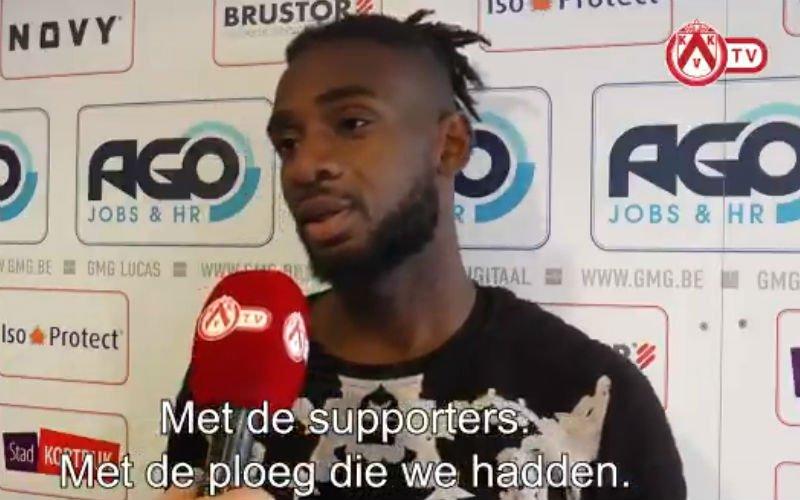 Mboyo reageert voor het eerst op terugkeer naar Kortrijk
