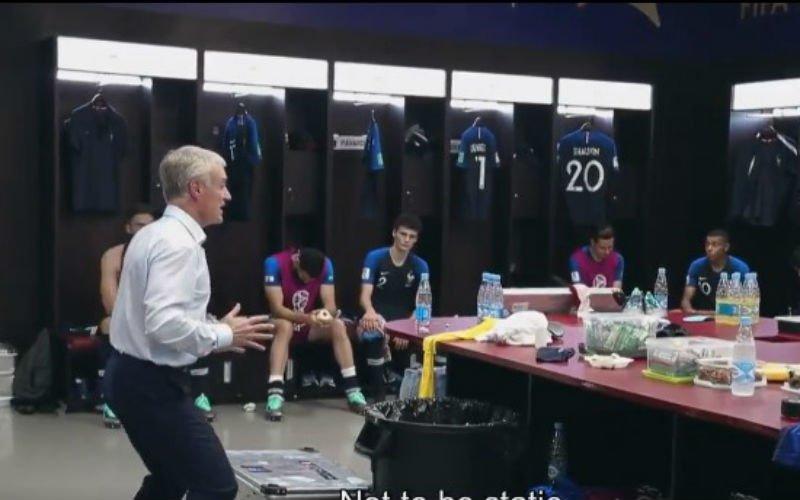 Unieke beelden uit kleedkamer Frankrijk tijdens rust van WK-finale