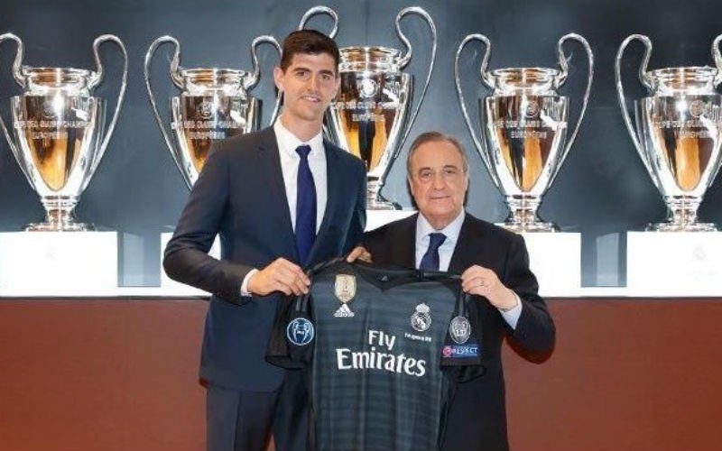 Courtois reageert voor het eerst op transfer naar Real Madrid