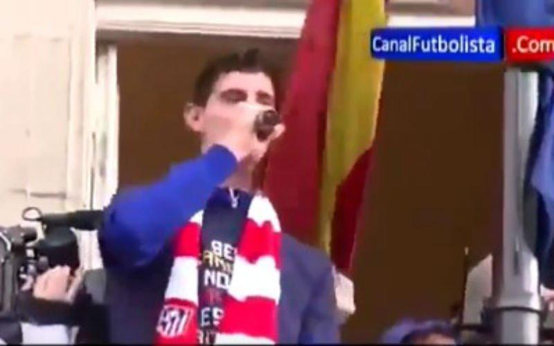 Pijnlijke video van Thibaut Courtois gaat viraal