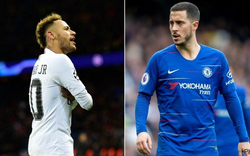 'Neymar forceert érg verrassende doorbraak in transfer van Eden Hazard'