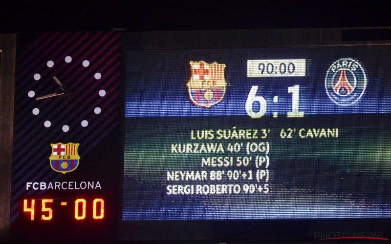 Scheidsrechter van Barcelona-PSG (6-1) wordt beschuldigd: 'Er is meer aan de hand'