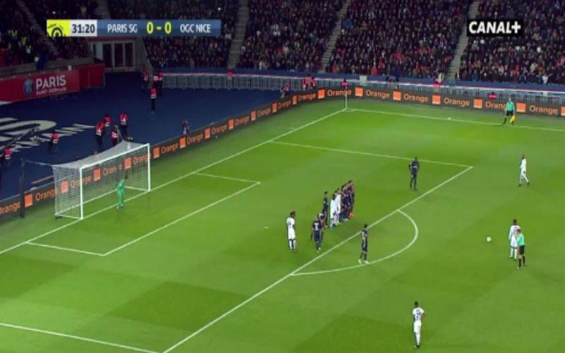 Nice deelt nieuwe dreun uit aan PSG in titelstrijd met fenomenale vrije trap (Video)