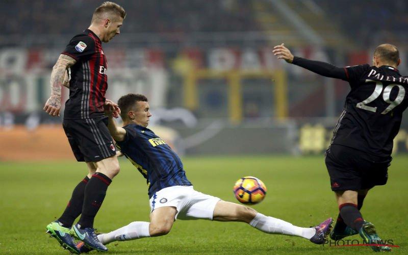 Perisic verpest het feestje van AC Milan in zinderende derby