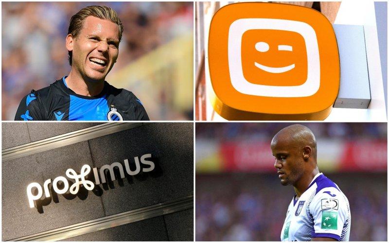 Verdwijnen wedstrijden van Belgische topclubs op Telenet en Proximus?