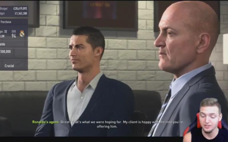 Dit gebeurt er in FIFA 18 als je Ronaldo koopt met... Barcelona (video)